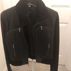 Black Rivet leather and knit jacket, Size Xl